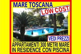 offerte low cost mare toscana affitto giugno luglio agosto monolocale bilocale trilocale 300 metri mare in residence con piscina