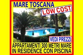 mare toscana marina di bibbona affitto appartamenti 300 mt dal mare in residence con piscina 1 sett 480 dal 27 luglio al 3 agosto