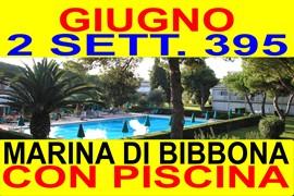 offerte giugno 2 sett. 395 mare toscana marina di bibbona affitto case appartamenti in residence con piscina 300 metri dal mare(vedi altre offerte)