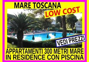 Offerte Giugno 2 settimane 395  Mare Toscana Marina di Bibbona affitto appartamenti vacanze 300 metri dal mare in residence con piscina vedi prezzi