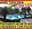 Offerte  mare Toscana giugno luglio agosto Marina di Bibbona affitto case appartamenti vacanze 300 metri dal mare in residence  con piscina