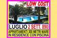 luglio 2 settimane 890 tutto incluso toscana marina di bibbona appartamento 300 metri dal mare in residence con piscina