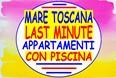 offerte last minute agosto settembre mare toscana marina di bibbona  affitto appartamenti case vacanze con piscina