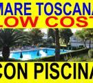 Marina di Bibbona AFFITTO LOW COST MARE TOSCANA  2 sett. 395 dal 2 al 16 giugno appartamenti 300 metri dal mare in residence con piscina(VEDI PREZZI)