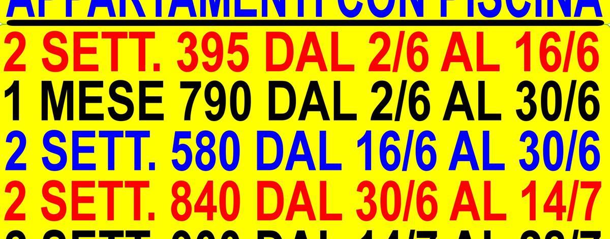 OFFERTE AFFITTO APPARTAMENTI GIUGNO MARE TOSCANA 2 SETT. 450 DAL 3 GIUGNO AL 17 GIUGNO CON PISCINA ( DISPONIBILE IN ALTRI PERIODI )
